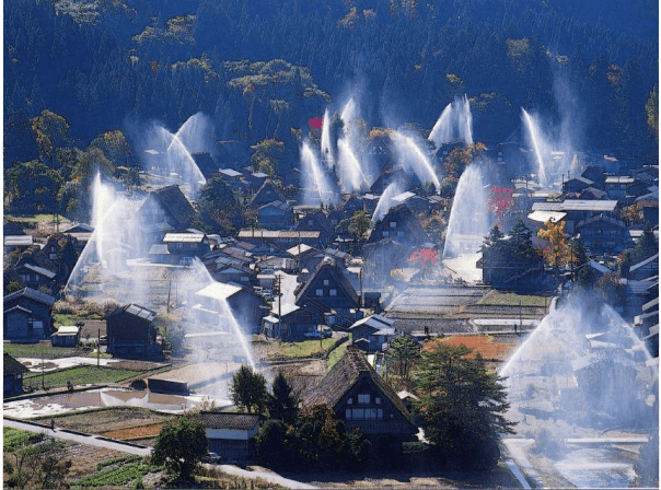Tenang, Contoh Hadapi Kebakaran Dari Jepang