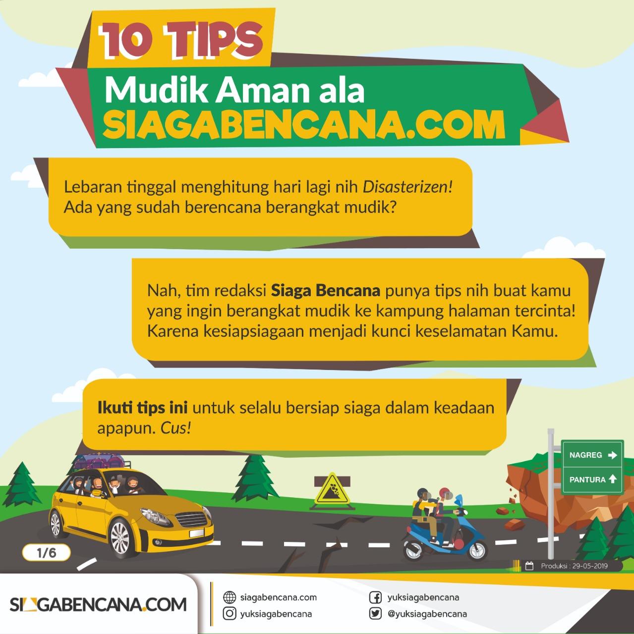 10 Tips Aman Perjalanan Mudik Lebaran